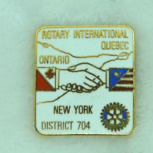 Rotary International Quebec Ontario & New York District 704 Lapel Hat Pin