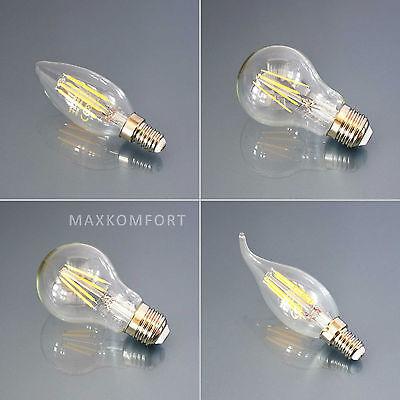 LED Leuchtmittel Lampe Glühbirne Windstoß Kerze Birne Filament E14 E27 Leuchte online kaufen