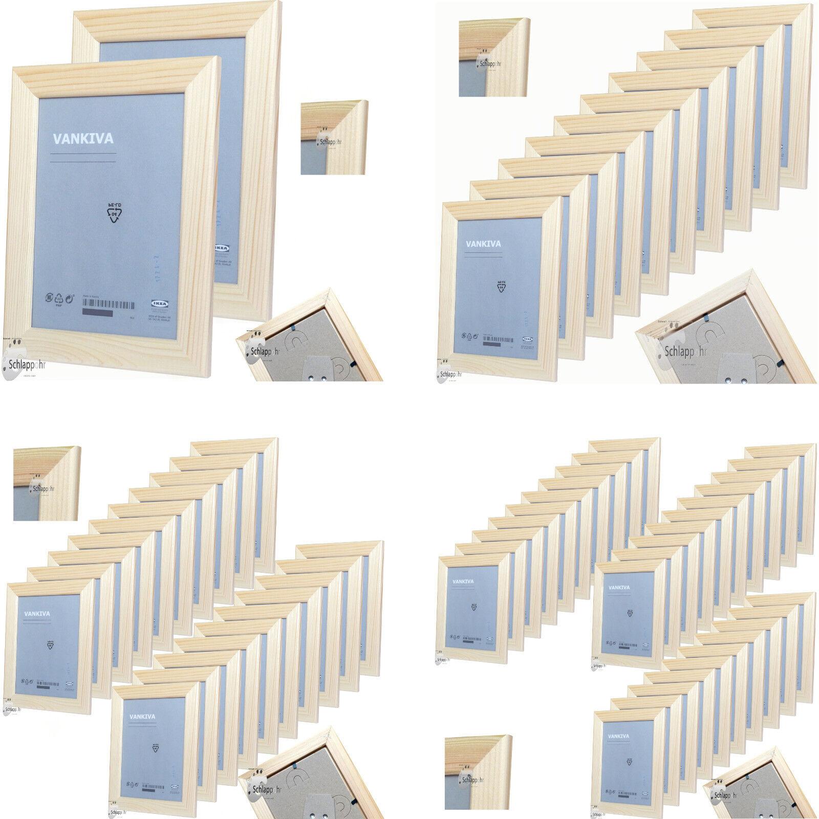 IKEA VANKIVA 2er10er20er30er Set Holz Bilderrahmen 10x15
