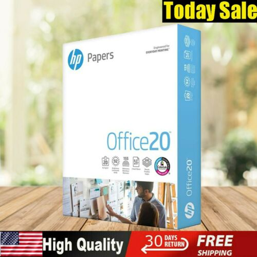 HP Printer Paper Office Copy Print Size 1 Ream 500 Sheets 20 lb 8.5 x 11 Best
