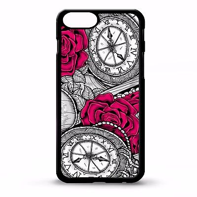 Pocket watch flower floral vintage girly tattoo print pattern phone case cover