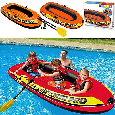 Intex Explorer Pro Dingy Inflatable Rubber Boat Air Pump Paddles 1/2/3 Person