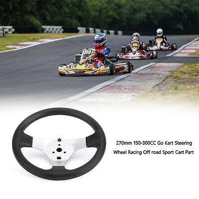 """14.5/"""" Steel Black Bowtie Steering Wheel for Racing Kart Mower Fun Cart Parts"""