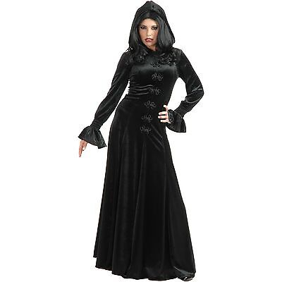Twilight Hooded Dress Gothic Vampire Wine Sexy Dress Up Halloween Adult Costume - Vampire Dress Up