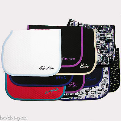 ENGLISH BABY SADDLE PAD WITH CUSTOM EMBROIDERY by BobbiGee's