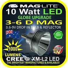 MAGLITE TORCH LED BULB/GLOBE UPGRADES. 3-10 Watt. 90-1100lm Balwyn North Boroondara Area Preview