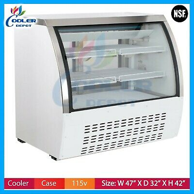 New 48 Commercial Deli Refrigerator Cooler Case Display Fridge Pastry Dc120 Nsf