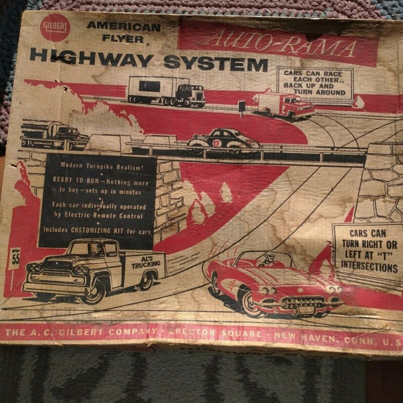 1960s AUTO-RAMA American Flyer Gilbert highway Sys still in original box 19085