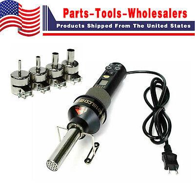 200w Lcd Electronic Heat Hot Air Gun Desoldering Soldering Station W Nozzle Kit