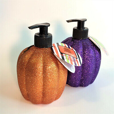 New Simple Pleasures Glitter Halloween Pumpkin & Mixed Berry Hand Soap Dispenser - Simple Halloween Pumpkin