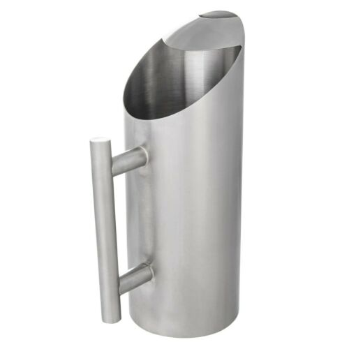 Acopa 64 oz. Stainless Steel Pitcher with Angled Top and Ice Guard [12 Count]