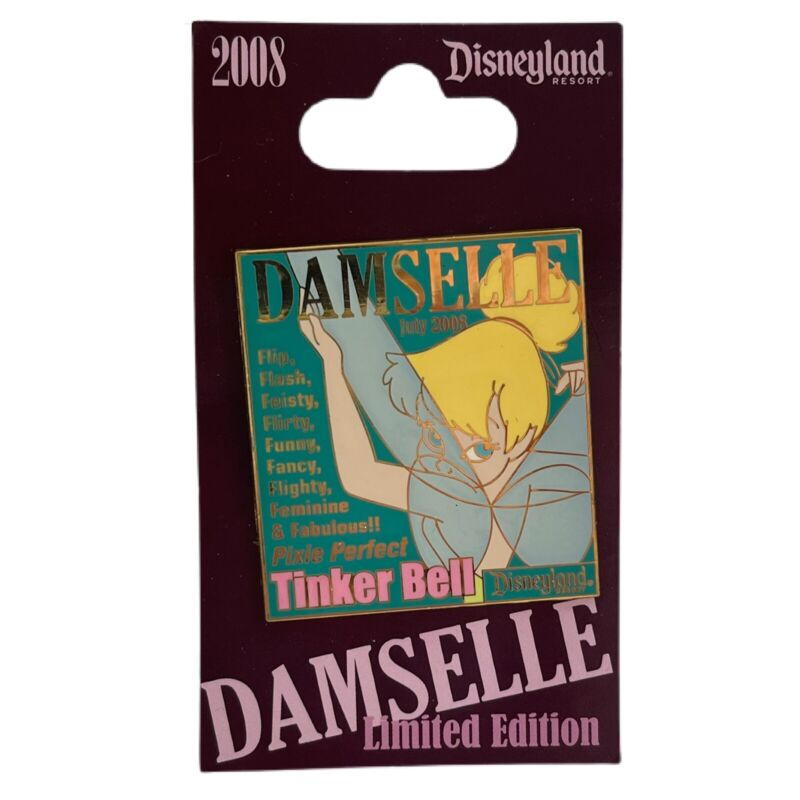 Disney DLR Pin 62426 Damselle Magazine Collection 2008 Tinker Bell July LE 1000