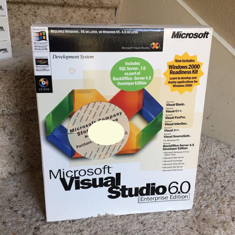Microsoft Visual Studio Enterprise 6.0 for Windows + Basic C++ FoxPro Interdev