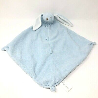 Angel Dear Blue Bunny Rabbit Plush Baby Lovey Security Blanket Knotted Corners for sale  Shipping to India