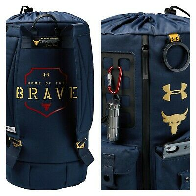 UA X Under Armour Project Rock Dwayne Johnson 60  Duffle Gym Bag Backpack New