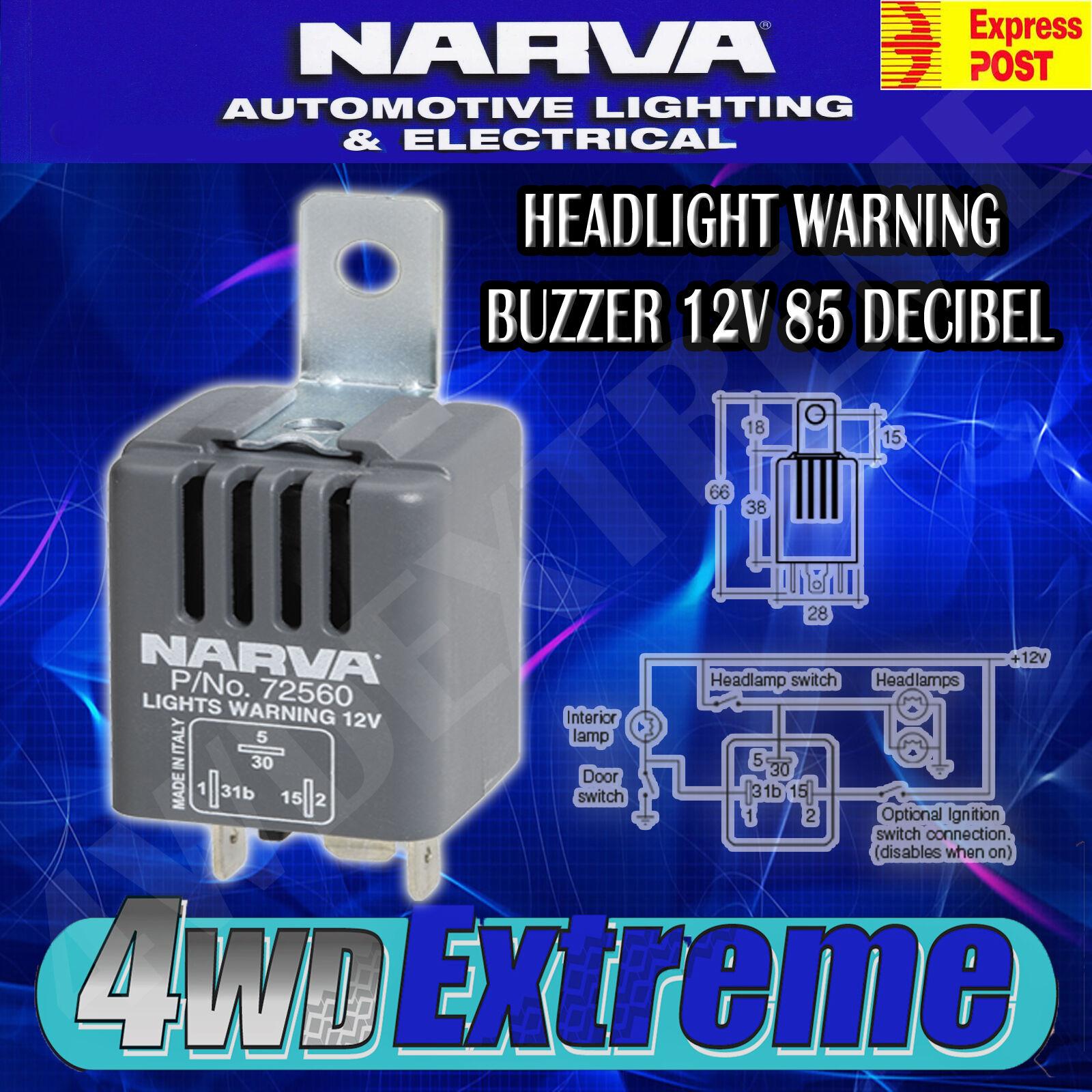 narva headlight on warning buzzer 12 volt 85 decibel. Black Bedroom Furniture Sets. Home Design Ideas