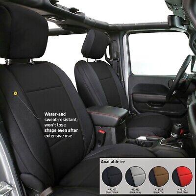 2018-2019 Jeep Wrangler Unlimited JL Custom Neoprene Seat Covers Front & Rear (Custom Seat Covers Front Seats)