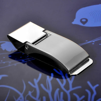 New Stainless Steel Money Clip Blank Wallet Silver Cash Holder Card Holder US