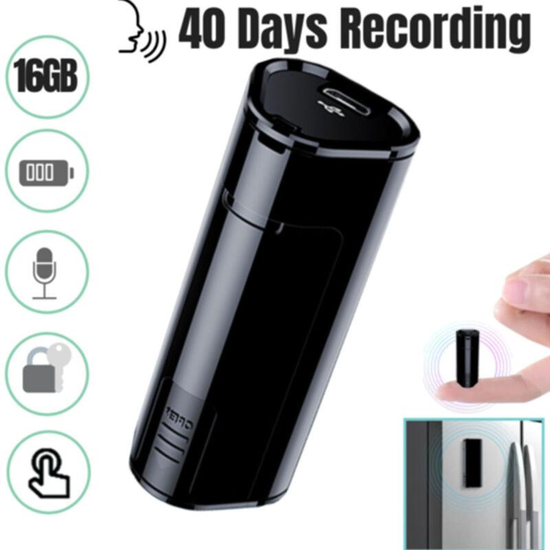 Hidden Voice Activated Recorder Spy Digital Audio Recording Device 16GB Black