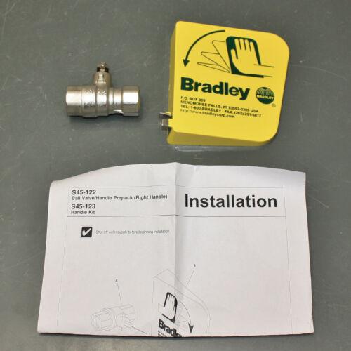 """Bradley Ball Valve & Plastic Handle S45-122, for Eye & Face Wash Station, 1/2"""""""