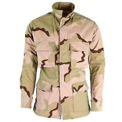 Genuine US army combat jacket BDU 3-color ripstop military desert camo shirt NEW Camo Bdu Military Shirt Jacket