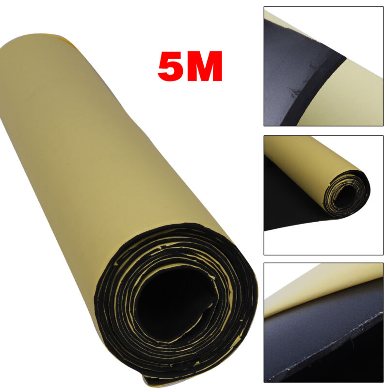 Car Parts - 5M Self Adhesive Car Sound Proofing Deadener Insulation Roll Closed Cell Foam UK