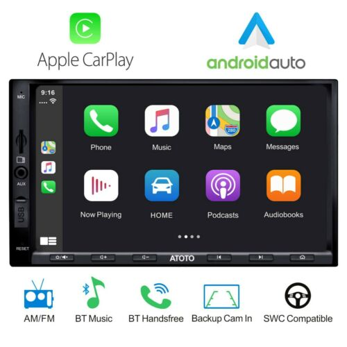 ATOTO 2 Din SA102 Starter Car Stereo,YS102SL CarPlay,Android Auto,Bluetooth,USB