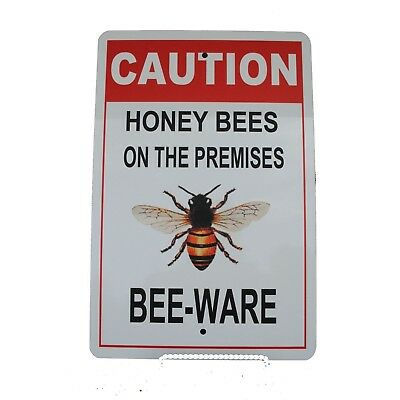 Beekeeper Sign Caution Bees Sign Honey Bee Warning Sign Bees Bee Keeping Sign