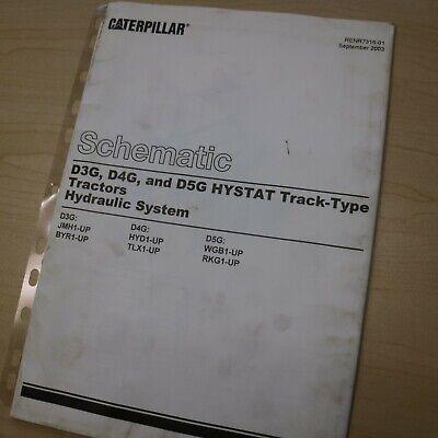 Cat Caterpillar D3g D4g D5g Crawler Tractor Hydraulic Schematic Manual Service