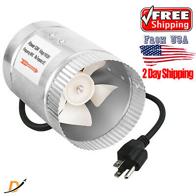 BEST iPower 4 Inch 100 CFM Booster Fan Inline Duct Vent Blower for HVAC