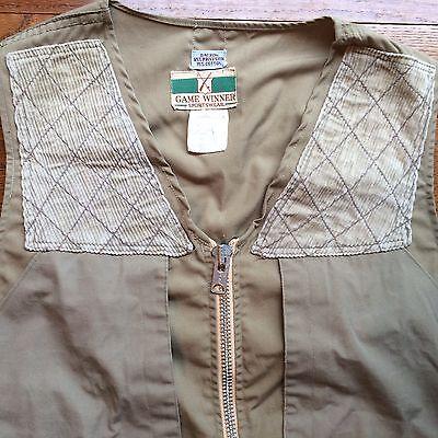 5462720529500 Vtg Distressed Game Winner Sportswear Khaki Hunting Fishing Outdoors Vest  40-42