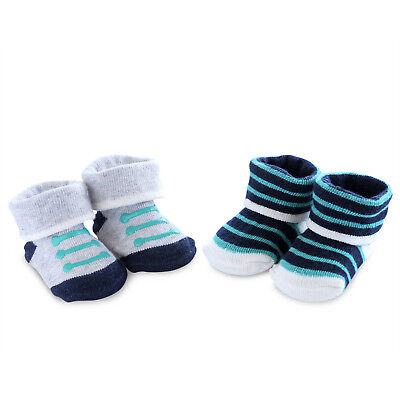 Carters Child of Mine Baby Boy 2 Pack Bootie Sock Set NEWBORN NWT