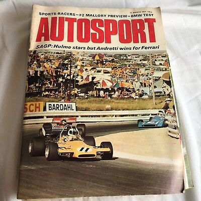 VINTAGE AUTOSPORT MAGAZINE MAG MARCH 1971 F1 RACING CARS