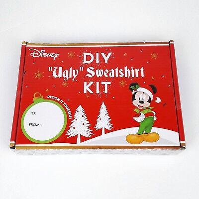 Disney DIY Ugly Christmas Mickey Mouse Sweatershirt Kit Women's Unisex Size - Ugly Christmas Sweater Kit