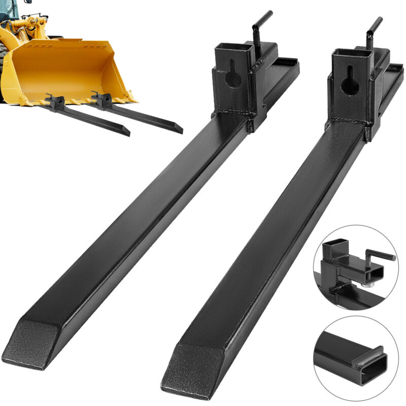 30 1500lbs Clamp on Pallet Forks  Bucket Loader Tractor Heavy lifting