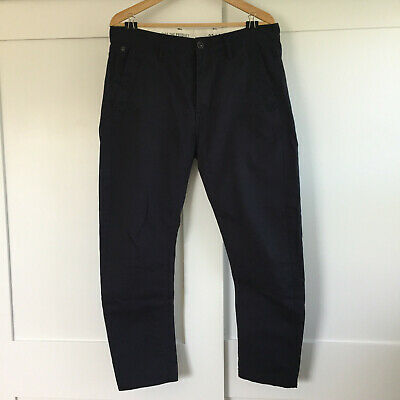G Star Bronson Tapered Chino Pants 32x20 Dark Blue Navy