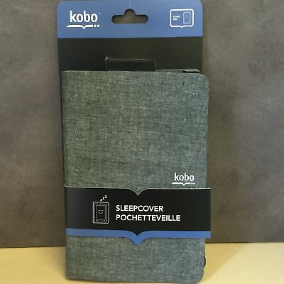 NEW, Leather SleepCover Case Grey for Kobo Arc 64