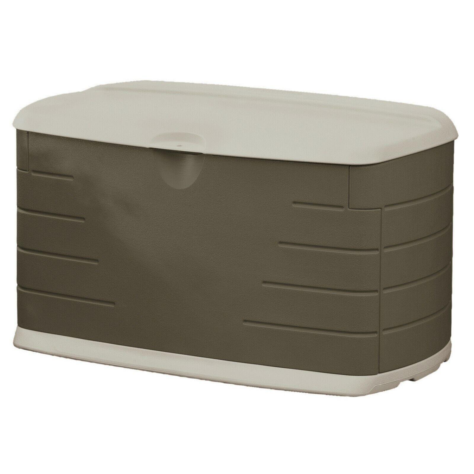 121 gallon deck box with seat storage
