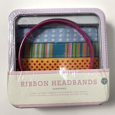 Pottery Barn Kids Headband Kit 4 Bands Stripes Polka Dots NEW - Headband Kit