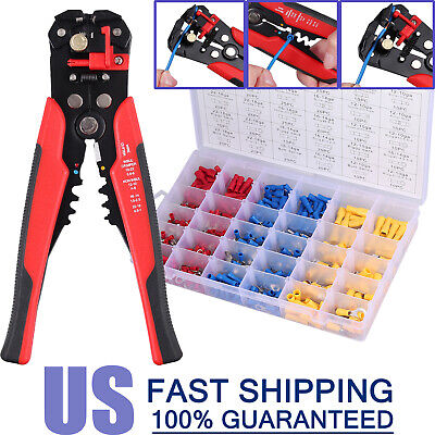Crimping Tool Set Crimper Stripper Plier W500insulated Connector Terminal Kit
