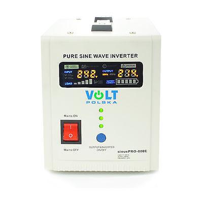 Off-Grid Pure Sine Wave Inverter Charger Sinus Pro 800E 12V /230V  AVR UPS