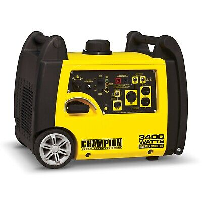 New Champion 3400 Watt Gasoline Inverter Generator 100269