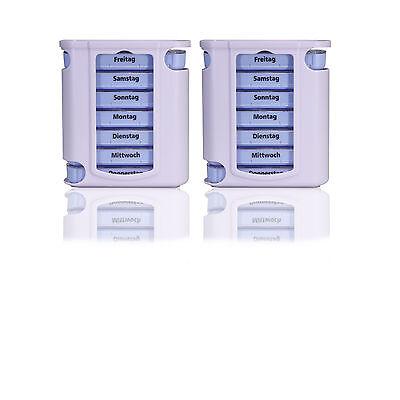 2x Pillendose/ Pillenbox/ Tablettendose/ Tablettenbox/ Tablettenturm 7 Tage