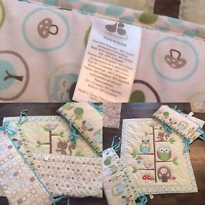 Just Born Crib Bedding - bumper pads and comforter