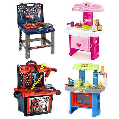 Children's Kids Tools DIY Work Bench Or Kitchen Cooking Creative Role Play Toys -