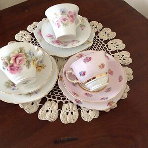 English Bone China cup, saucer, and plate set x three Parkdale Kingston Area Preview