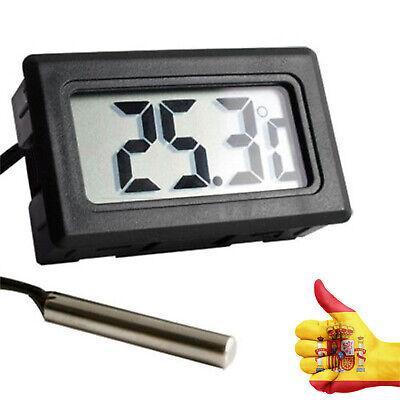 Para Acuario Digital LCD Sonda Congelador Nevera Cocina Termómetro termógrafo