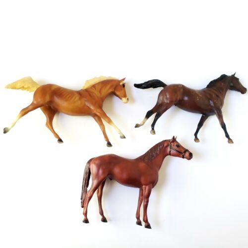 "Vintage Breyer Brown Horses Lot Of 3 USA 12"" x 9"""