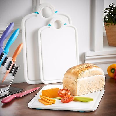 VonShef Chopping Board Set Piece Anti-Microbial Circle Hook