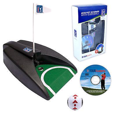 PGA TOUR Auto Putt Returner Machine - Putting Golf Practice Christmas Gift + DVD